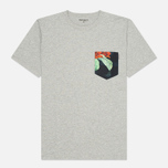 Мужская футболка Carhartt WIP Lester Pocket Grey Heather/Tropic Print фото- 0