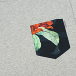 Мужская футболка Carhartt WIP Lester Pocket Grey Heather/Tropic Print фото- 2