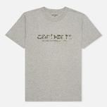 Мужская футболка Carhartt WIP Stain Script Grey Heather/Camo Stain Leaf фото- 0