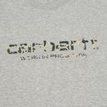 Мужская футболка Carhartt WIP Stain Script Grey Heather/Camo Stain Leaf фото- 2