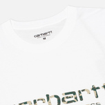 Мужская футболка Carhartt WIP Stain Script White/Camo Stain Leaf фото- 1