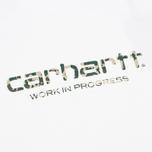 Carhartt WIP Stain Script Men's T-shirt White/Camo Stain Leaf photo- 2