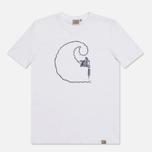 Мужская футболка Carhartt WIP Tattoo White/Jet фото- 0