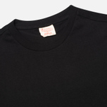 Champion Reverse Weave Crew Neck Patch Logo Men's T-shirt Black photo- 1