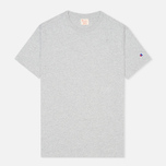 Мужская футболка Champion Reverse Weave Crew Neck Patch Logo Grey фото- 0