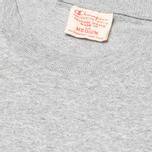 Champion Reverse Weave Crew Neck Patch Logo Men's T-shirt Grey photo- 2