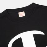 Мужская футболка Champion Reverse Weave Crew Neck Print Logo Black фото- 1