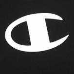 Мужская футболка Champion Reverse Weave Crew Neck Print Logo Black фото- 2