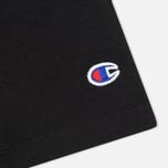 Мужская футболка Champion Reverse Weave Crew Neck Print Logo Black фото- 3