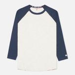 Champion x Todd Snyder Baseball Tee T-shirt Eggshell/Mast Blue photo- 0