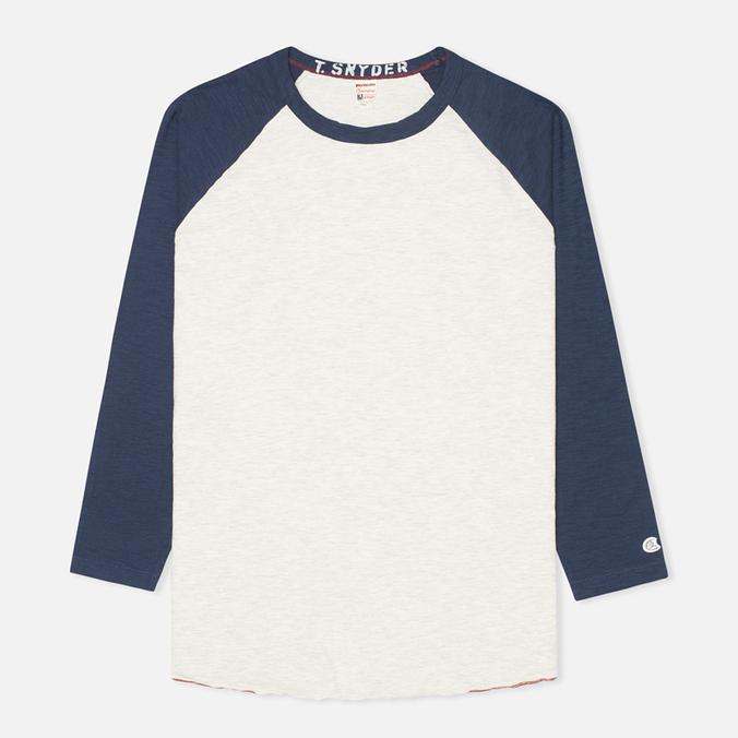 Champion x Todd Snyder Baseball Tee T-shirt Eggshell/Mast Blue