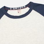Champion x Todd Snyder Baseball Tee T-shirt Eggshell/Mast Blue photo- 1