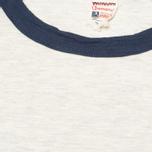 Champion x Todd Snyder Baseball Tee T-shirt Eggshell/Mast Blue photo- 2