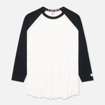 Champion x Todd Snyder Baseball Tee Men's T-shirt Vintage White/Black photo- 0