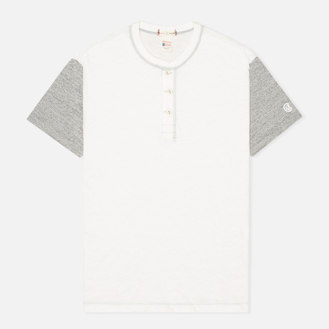 Мужская футболка Champion x Todd Snyder Henley Vintage White/Grey Heather