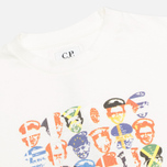Детская футболка C.P. Company U16 Faces Flags Print White фото- 1