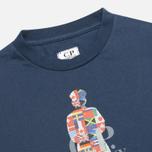 C.P. Company U16 Flags Logo Print Children's t-shirt Dark Blue photo- 1