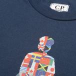 C.P. Company U16 Flags Logo Print Children's t-shirt Dark Blue photo- 3