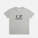 Детская футболка C.P. Company U16 Jersey Hood Print Grey фото- 0