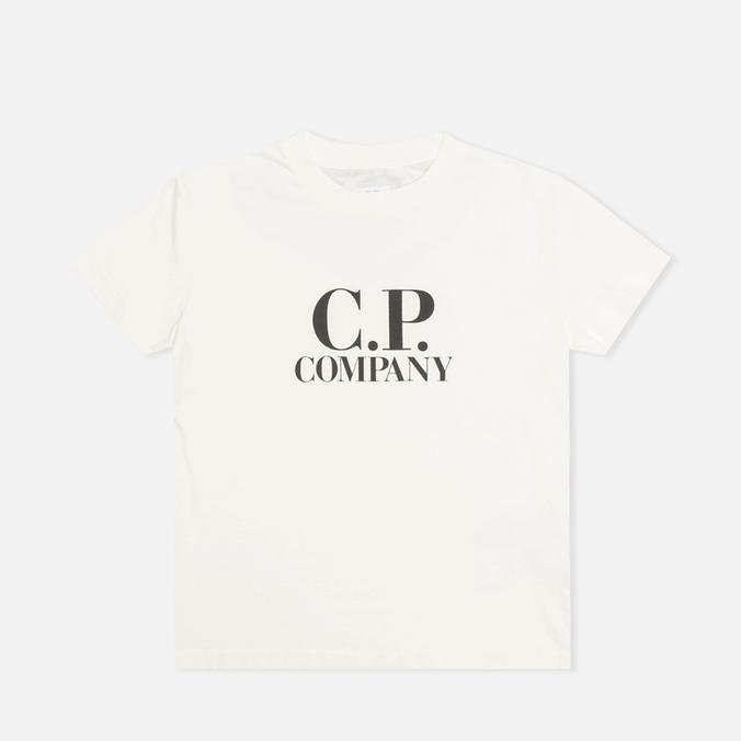 Детская футболка C.P. Company U16 Jersey Hood Print White