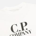 Детская футболка C.P. Company U16 Jersey Hood Print White фото- 2