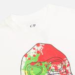 Детская футболка C.P. Company U16 Paint Drop Print White фото- 1