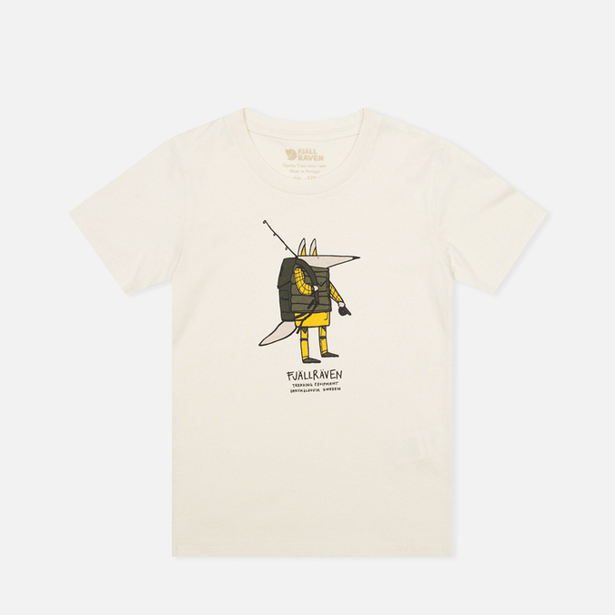 Fjallraven Trekking Fox Children's T-shirt Chalk White