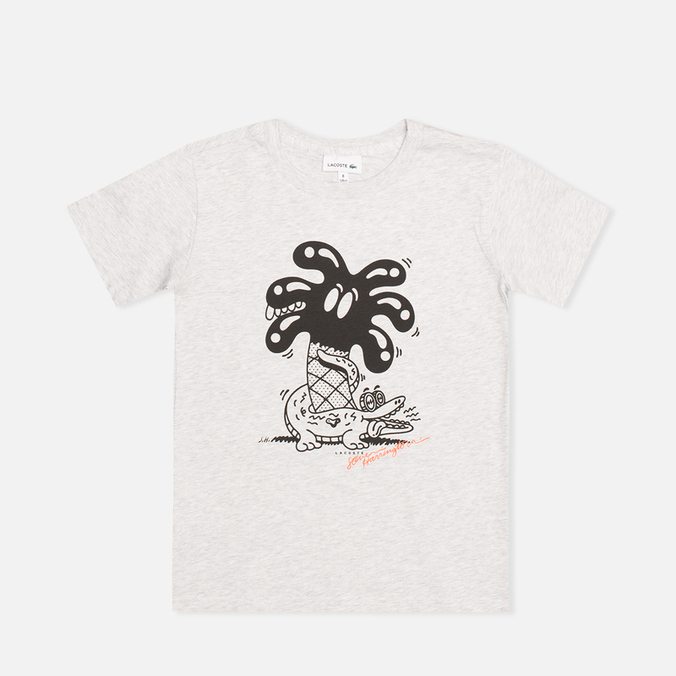 Детская футболка Lacoste Steven Harrington Print Palm Tree Paladium Chine/Black