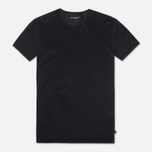 Мужская футболка Derek Rose Lewis Crew Neck Black фото- 0