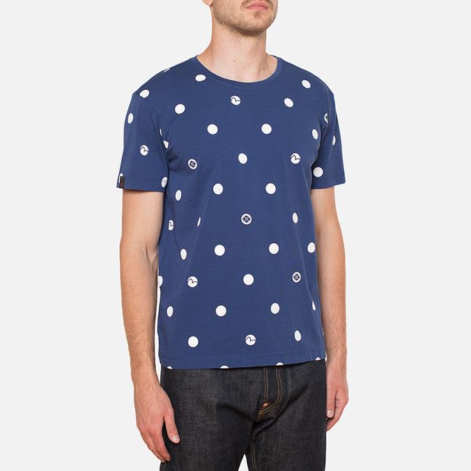 Evisu Genes Tesudot Bubble Print T-Shirt Navy