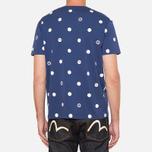 Evisu Genes Tesudot Bubble Print T-Shirt Navy photo- 3