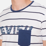 Evisu Genes Tesurto Stripe Bandana Print T-Shirt White/Navy photo- 5