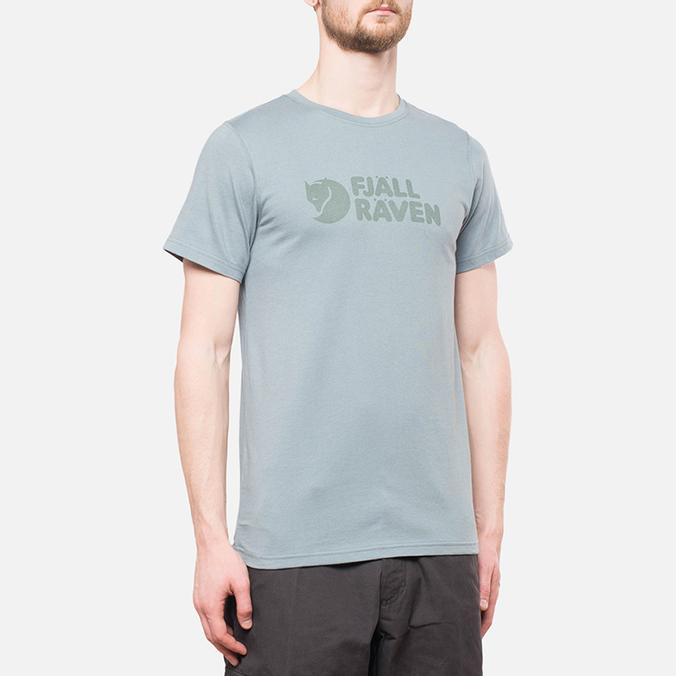 Fjallraven Logo T-Shirt Steel Blue