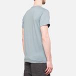 Fjallraven Logo T-Shirt Steel Blue photo- 2