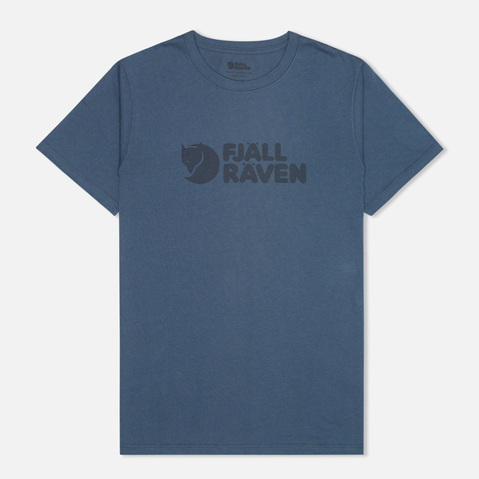 Fjallraven Logo Men's T-shirt Uncle Blue