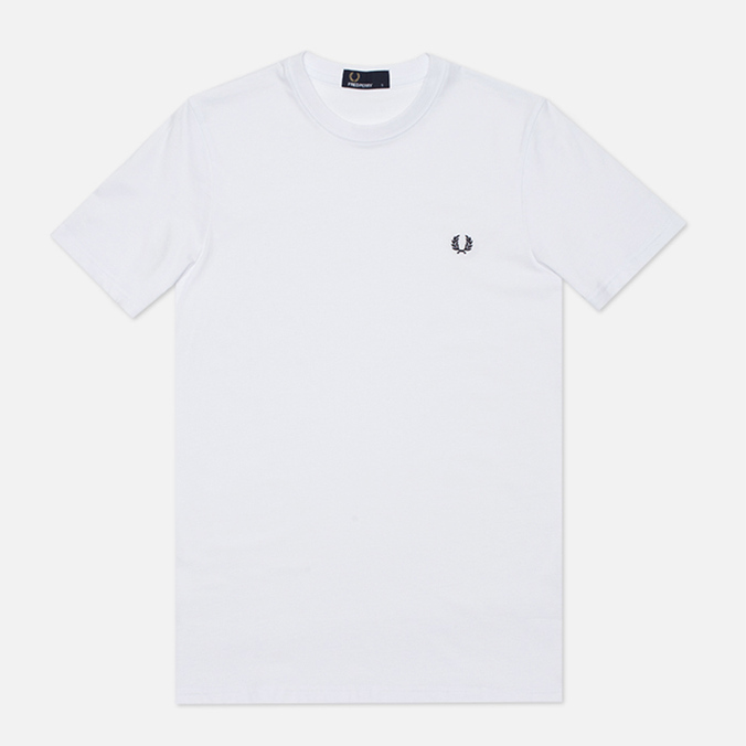 Мужская футболка Fred Perry Plain Crew Neck White
