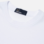 Мужская футболка Fred Perry Plain Crew Neck White фото- 2