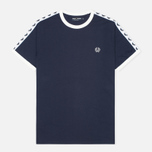 Мужская футболка Fred Perry Taped Ringer Blue Granite фото- 0