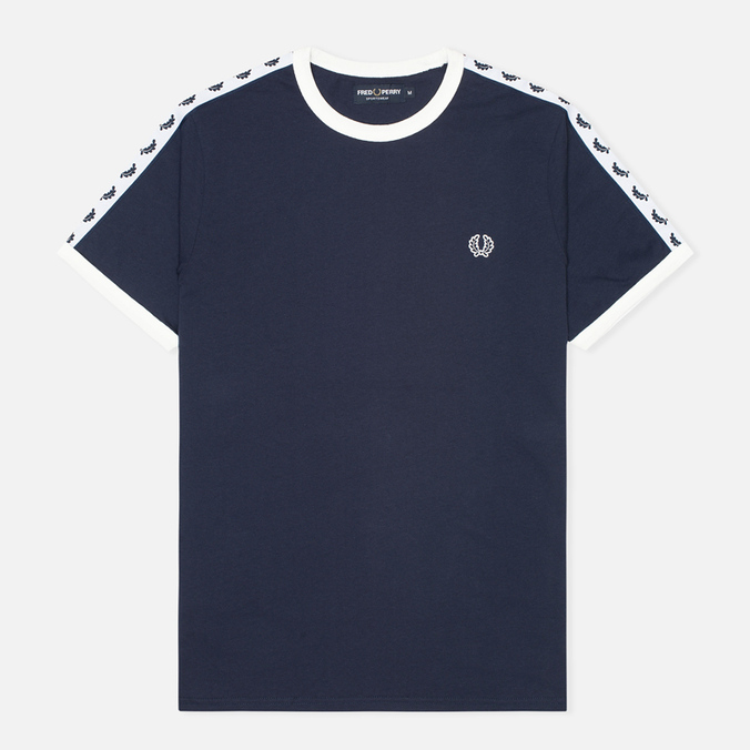 Мужская футболка Fred Perry Taped Ringer Blue Granite