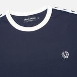 Мужская футболка Fred Perry Taped Ringer Blue Granite фото- 1
