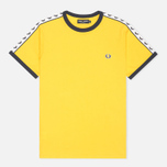 Мужская футболка Fred Perry Taped Ringer Bright Yellow фото- 0