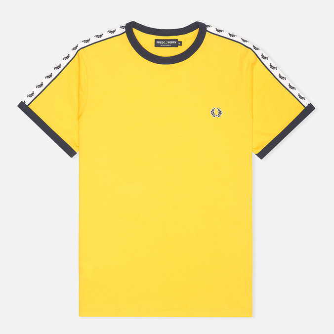Мужская футболка Fred Perry Taped Ringer Bright Yellow