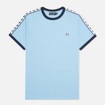 Мужская футболка Fred Perry Taped Ringer Glacier фото- 0