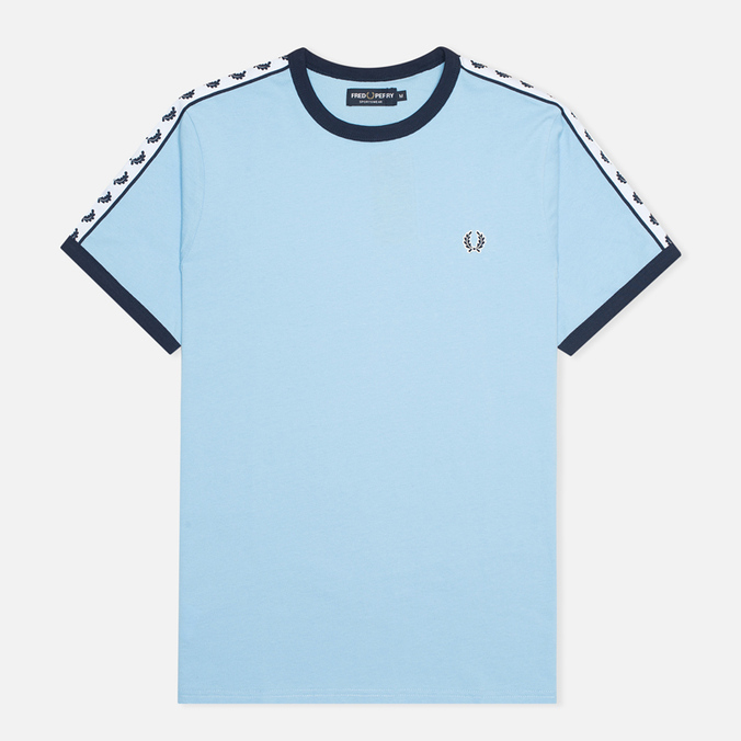 Мужская футболка Fred Perry Taped Ringer Glacier