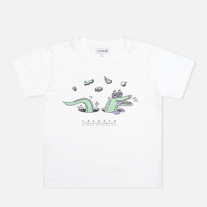 Детская футболка Lacoste Steven Harrington Print White