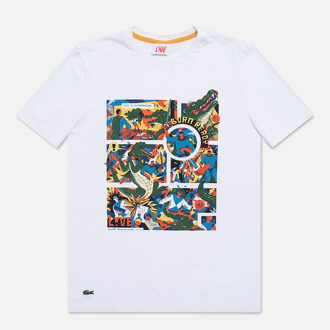 Мужская футболка Lacoste Live Super Hero White