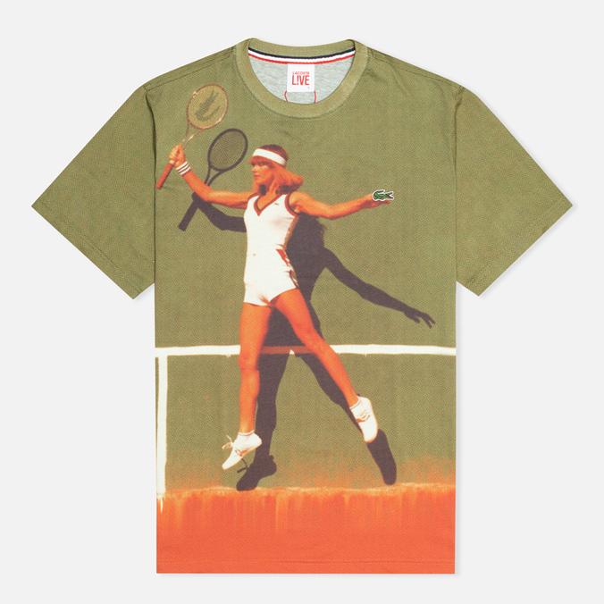 Lacoste Live Vintage Graphic Men's T-shirt Floral