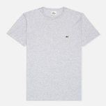 Мужская футболка Lacoste Single-Color Jersey Grey фото- 0
