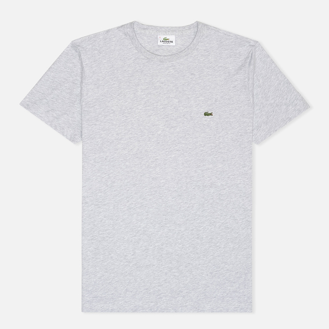 Lacoste Single-Color Jersey T-Shirt Grey