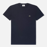 Мужская футболка Lacoste Single-Color Jersey Navy фото- 0